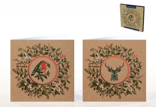 12 Luxury Christmas Cards Robin